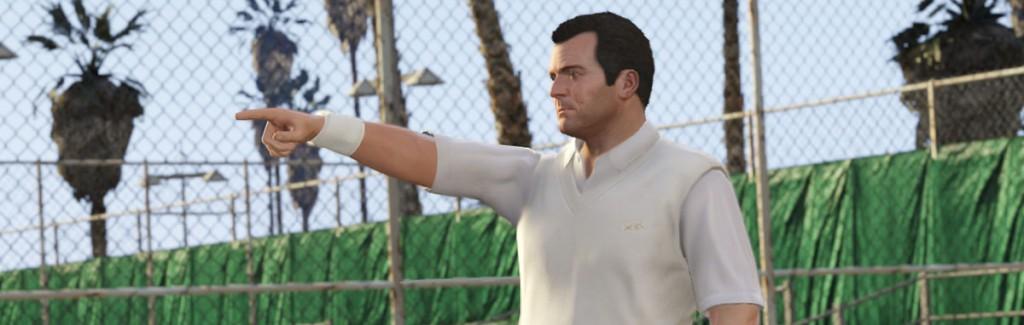 GTA 5 Michael Tennis